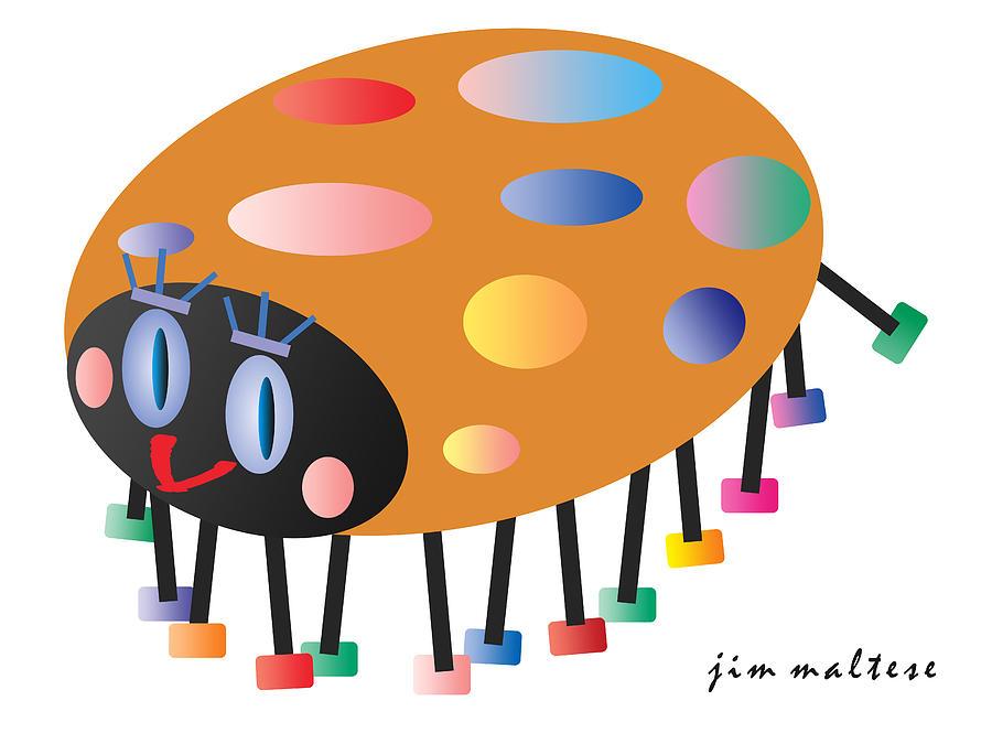 Ladybug Painting - Kicky Ladybug by James Maltese