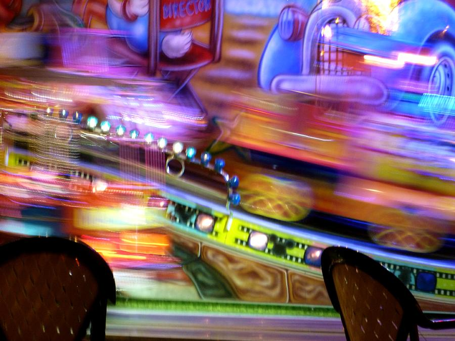 Blur Photograph - Kiddie Ride by Christine Burdine