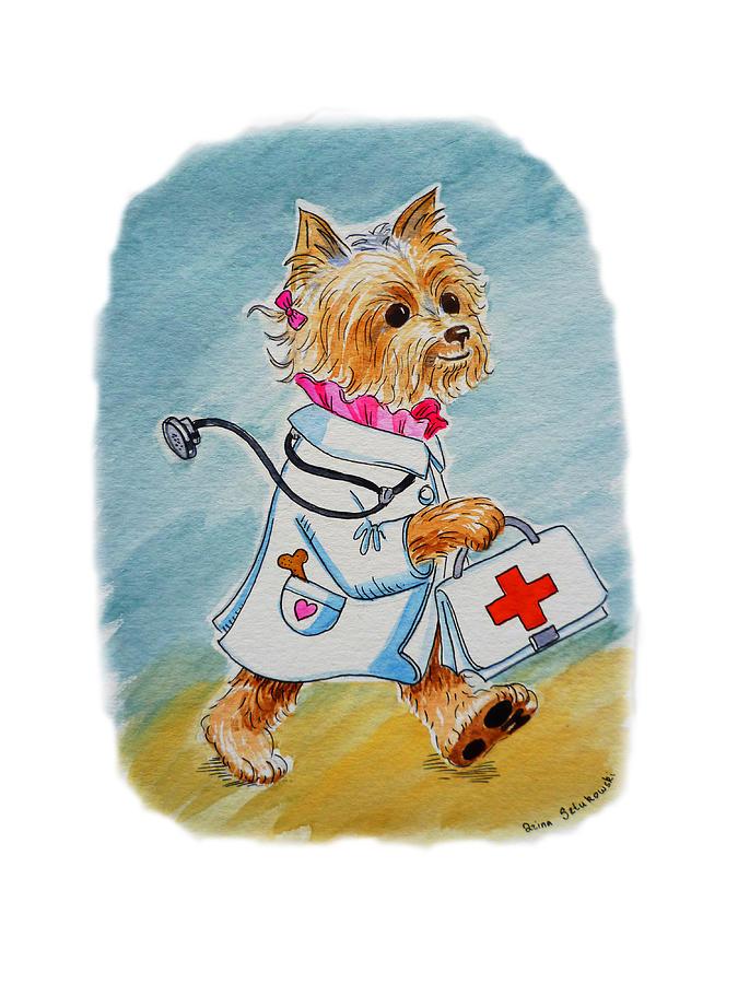 Dog Painting - Kids Art Dogtor by Irina Sztukowski