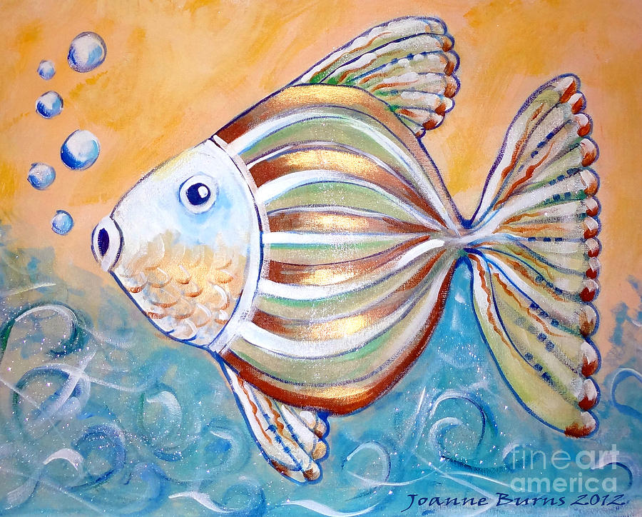 Kids Fish 3 Painting by Joanne Burns