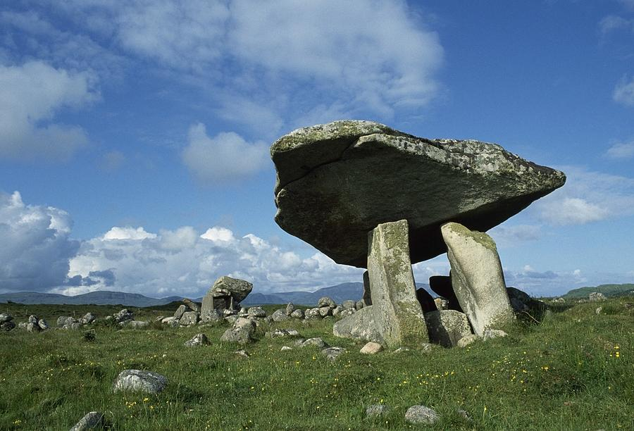 Outdoors Photograph - Kilclooney, Co Donegal, Ireland Dolmen by The Irish Image Collection