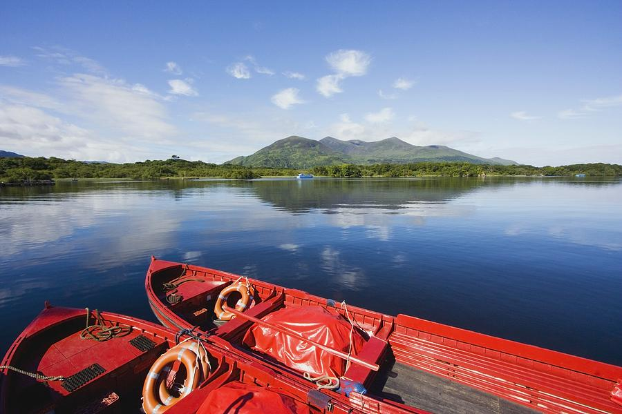 Boats Photograph - Killarney, County Kerry, Munster by Peter Zoeller
