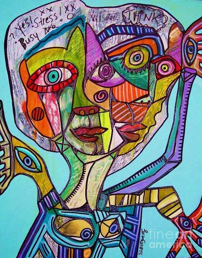 Killer Stress Painting By Sandra Silberzweig