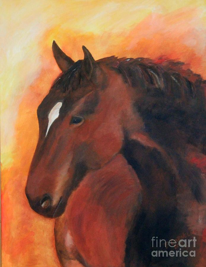 Equine Painting - Kind And Gentle by Barbara Cornelius