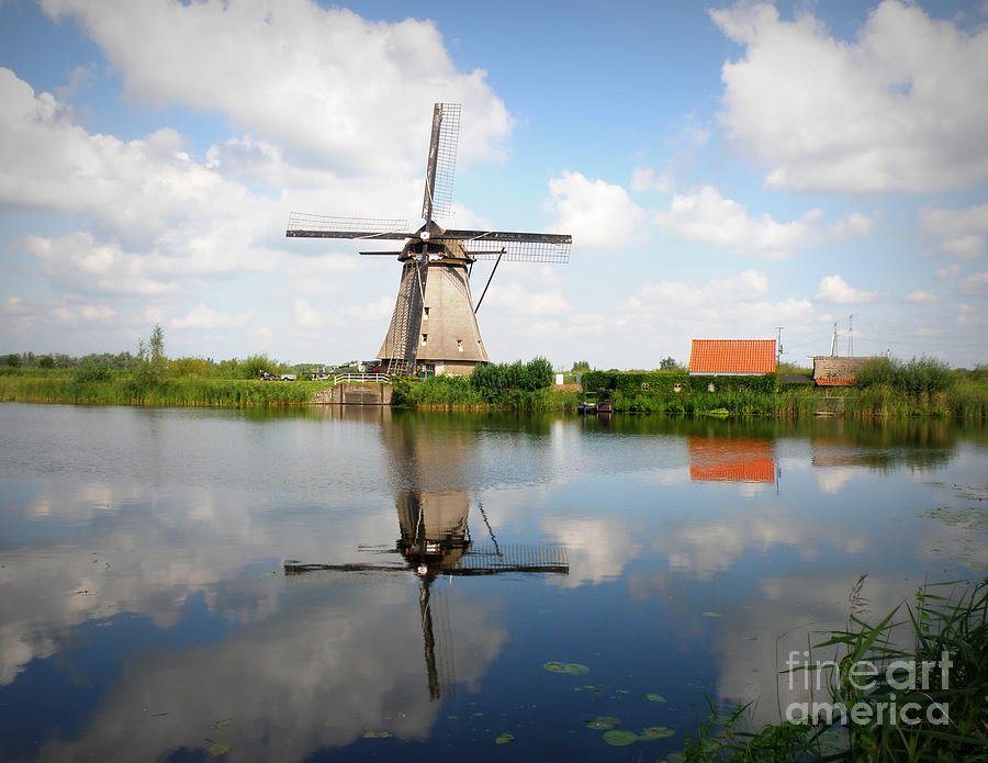 Windmill Photograph - Kinderdijk Windmill by Lainie Wrightson