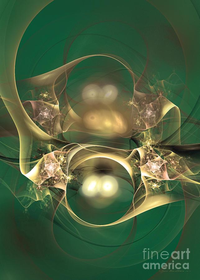 Fractal Digital Art - Kindred Spirits - Abstract Digital Art by Sipo Liimatainen