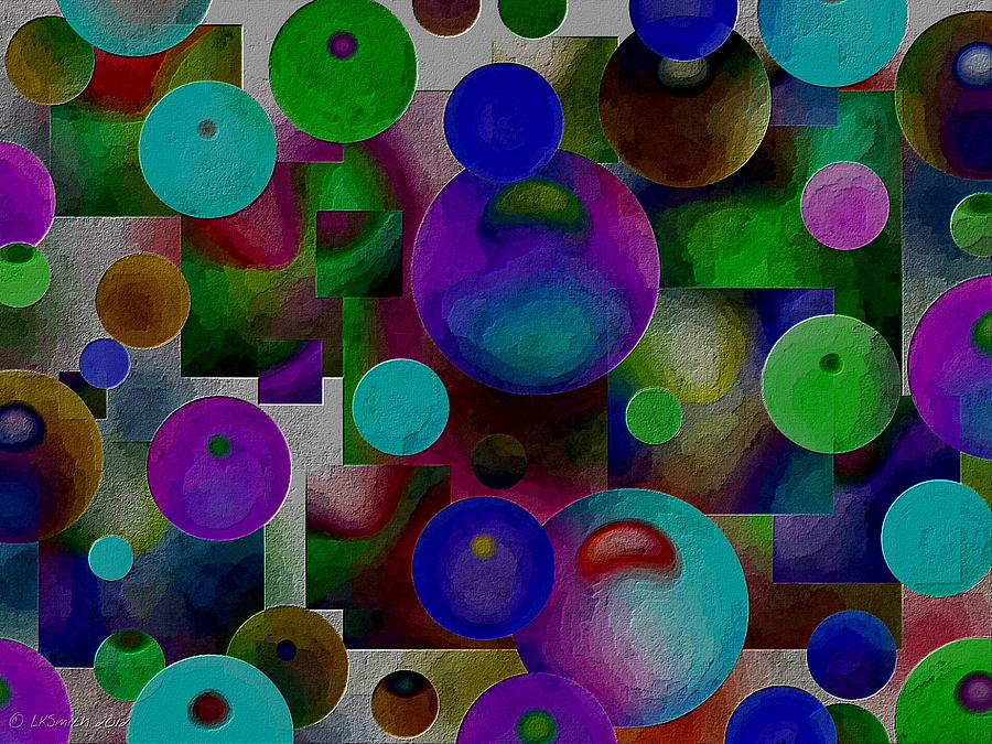 Circles Painting - Kinetix - Abstract by Lynda K Cole-Smith