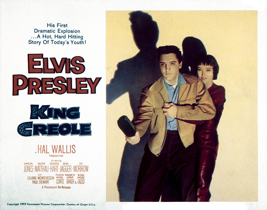 1950s Portraits Photograph - King Creole, Elvis Presley, Carolyn by Everett