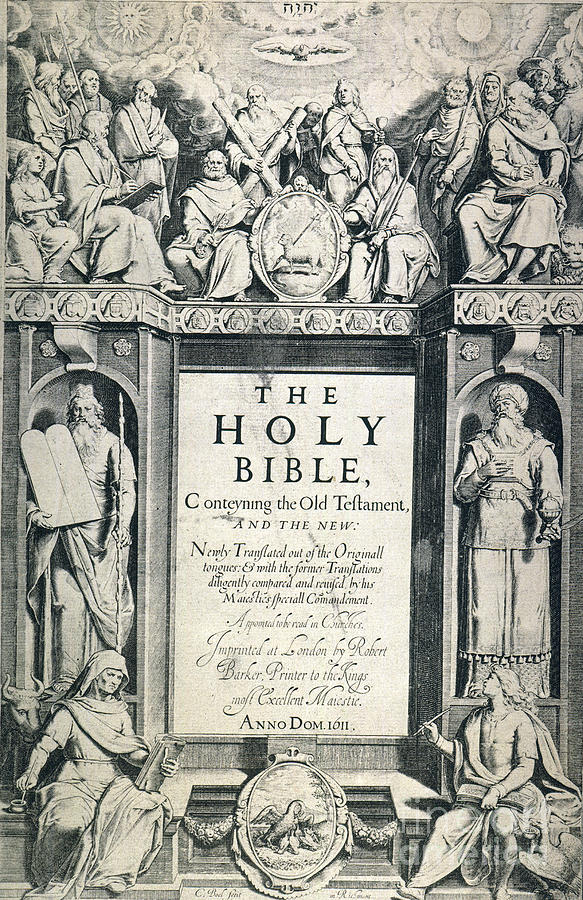 1611 Photograph - King James I Bible, 1611 by Granger