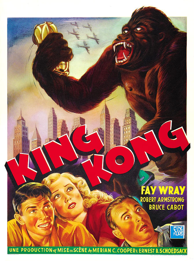 1930s Movies Photograph - King Kong, Bottom Left, From Left Bruce by Everett