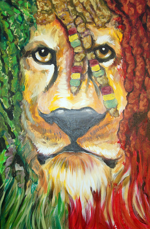Rasta Painting - King Of Jamaica by Ottoniel Lima Lorinda Fore and Matt Callahan