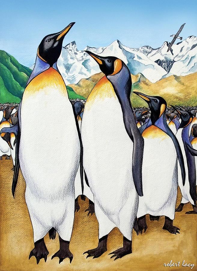 Acrylic Painting Peguin