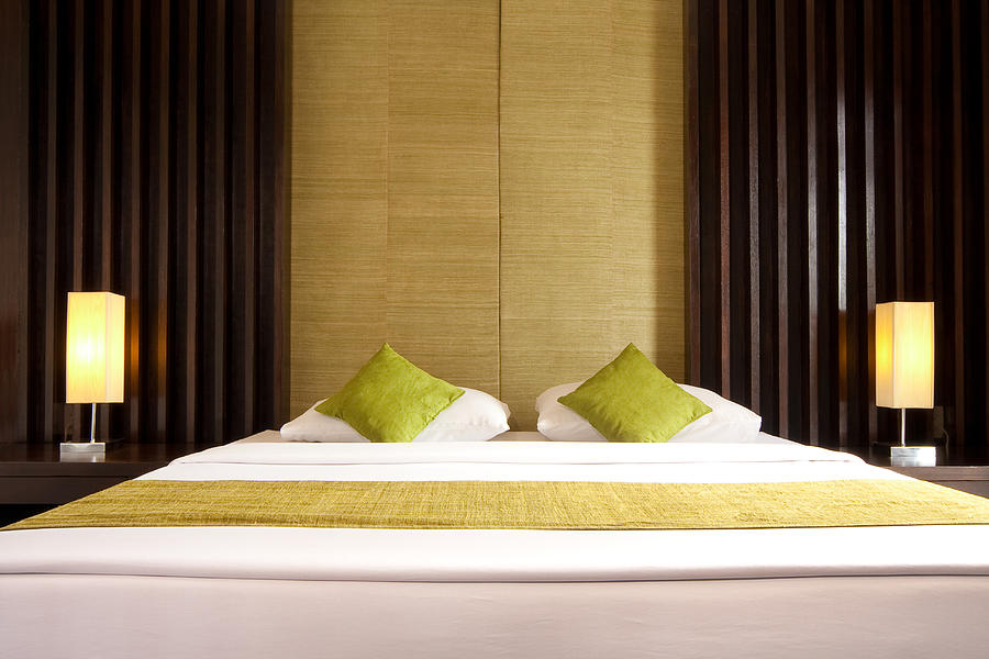 Hotel Photograph - King Size Bed by Atiketta Sangasaeng
