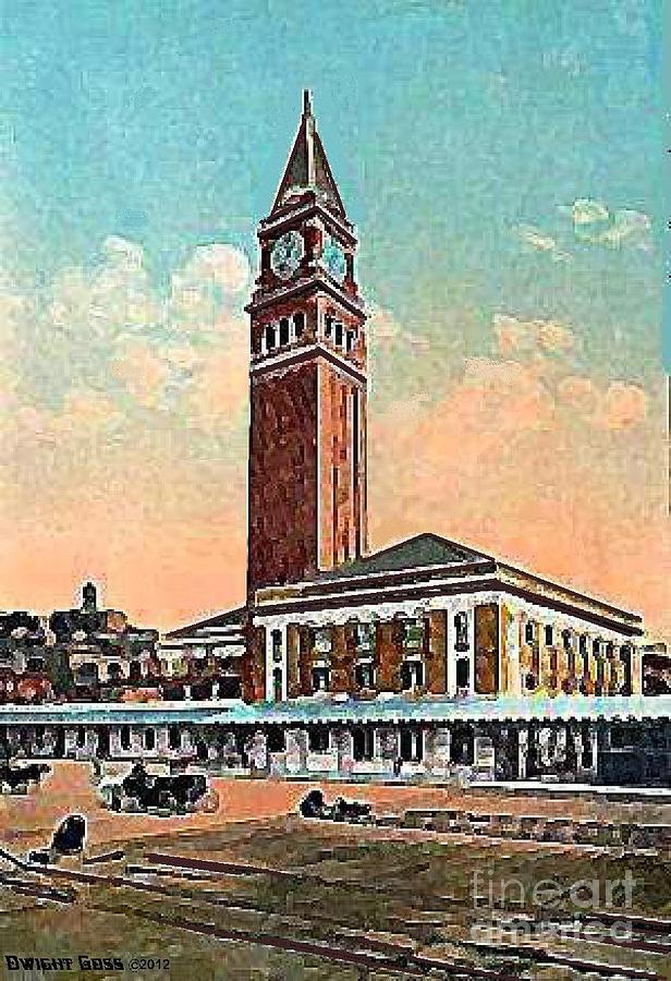 Railroad Stations Painting - King St. Railroad Station In Seattle Wa In 1910 by Dwight Goss