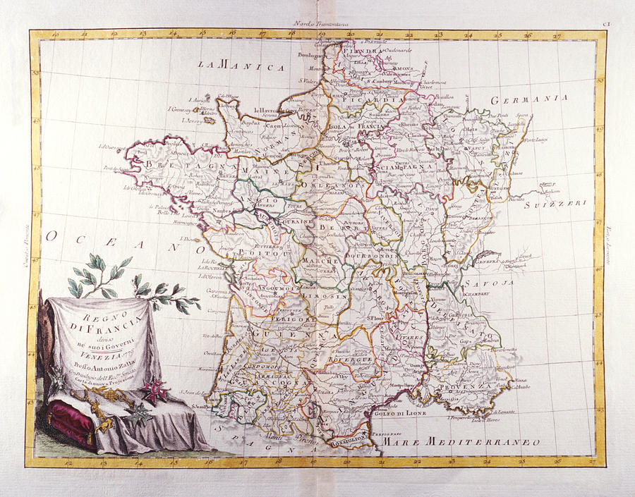 Horizontal Digital Art - Kingdom Of France Divided Into Its Governments by Fototeca Storica Nazionale
