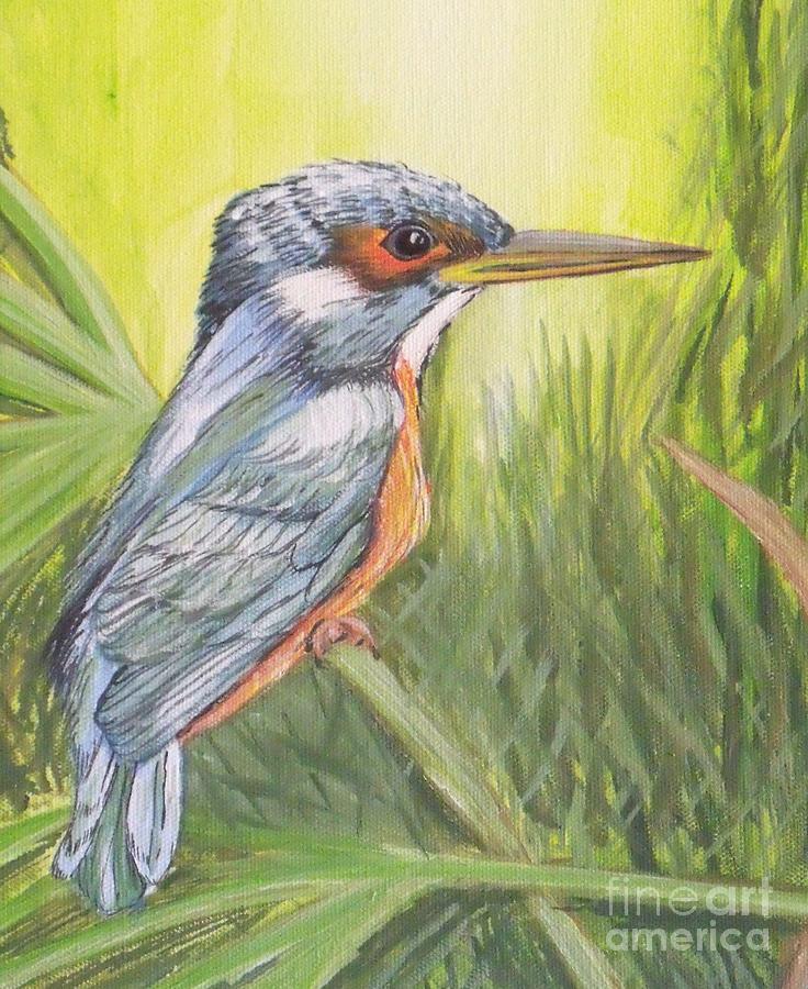 Animals Painting - Kingfisher by Debra Piro