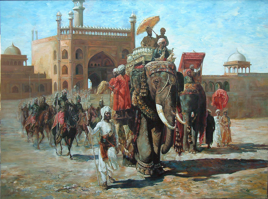 Entourage Painting - Kings Arrival by Jaffo Jaffer