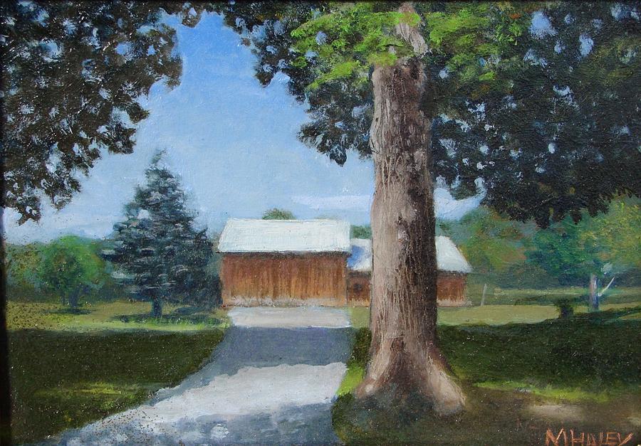 Landscape Painting - Kingsbury Farm by Mark Haley