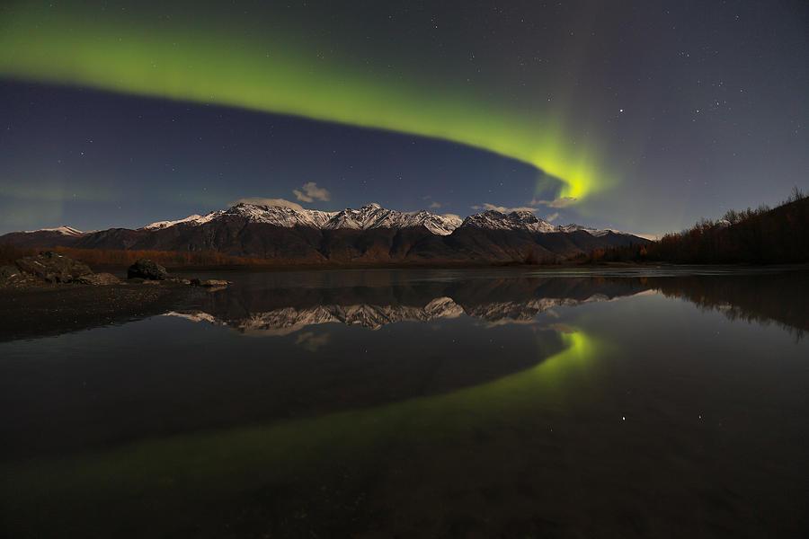 Aurora Borealis Photograph - Knik Alaska Northern Lights by Sam Amato