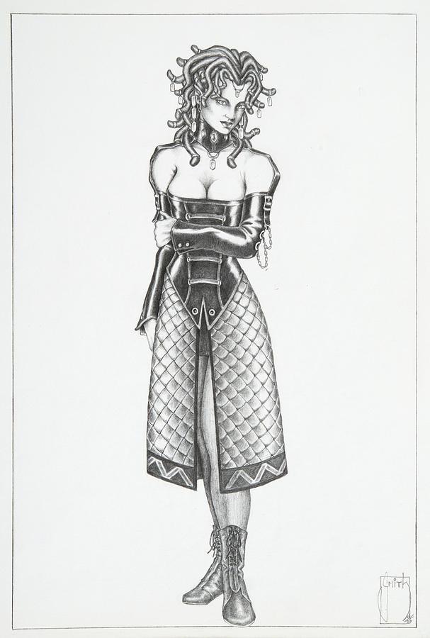Manga Drawing - Kira - The Viper by Sean Smith
