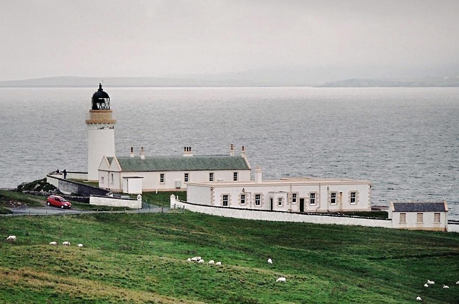 Lighthouse Photograph - Kirkabister Ness Lighthouse by Steve Watson