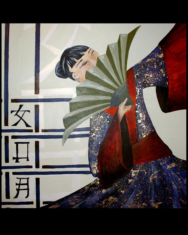 Japanese Painting - Kisaragi by Kate Fortin