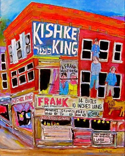 Pitkan Avenue Painting - Kishka King Pitkan Avenue by Michael Litvack