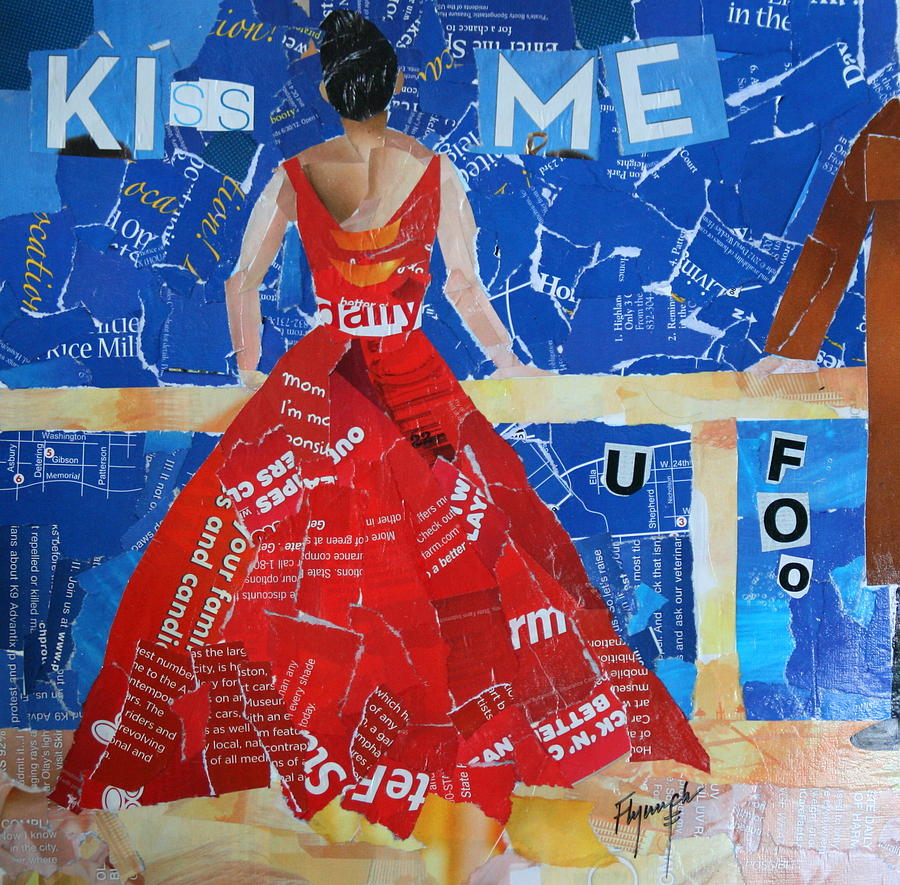 Kiss Mixed Media - Kiss Me by Lynn Chatman
