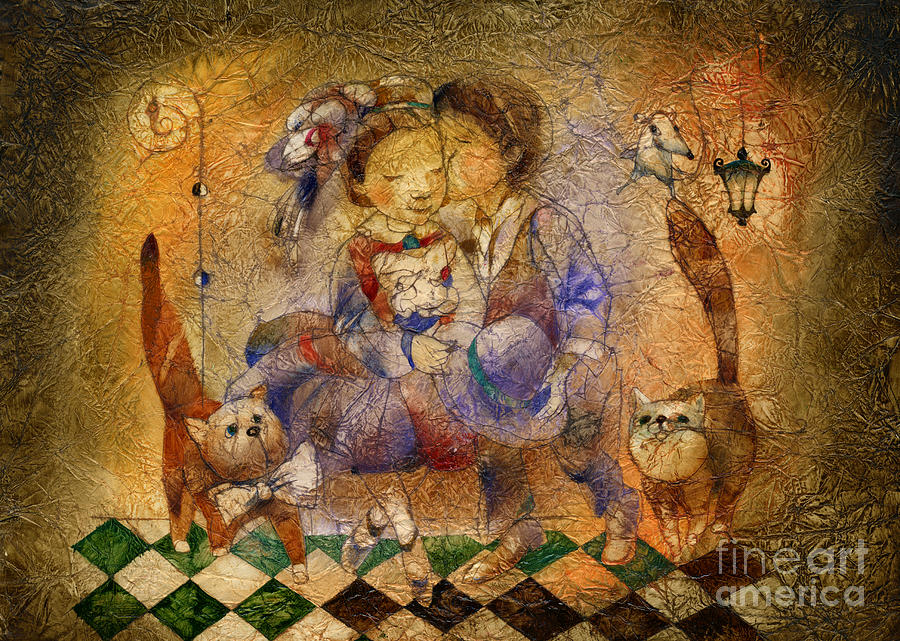 Kiss Mixed Media - Kiss by Svetlana and Sabir Gadghievs