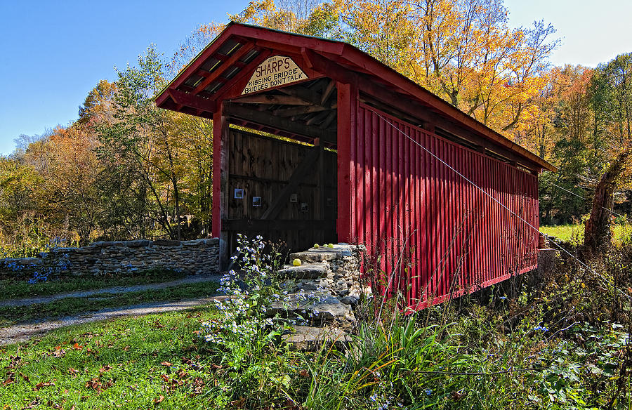 West Virginia Photograph - Kissing Bridge 2 by Steve Harrington