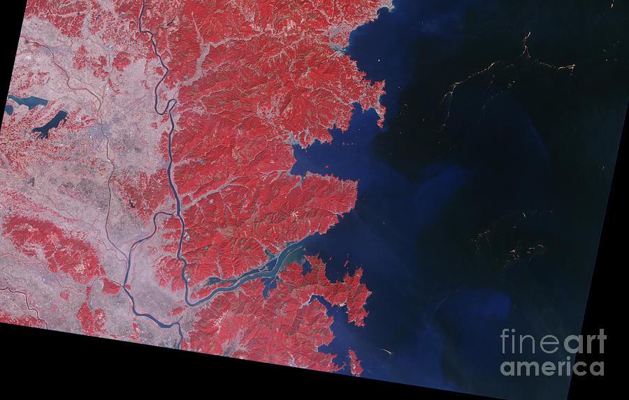 Japan Photograph - Kitakami River, Japan, After Tsunami by National Aeronautics and Space Administration