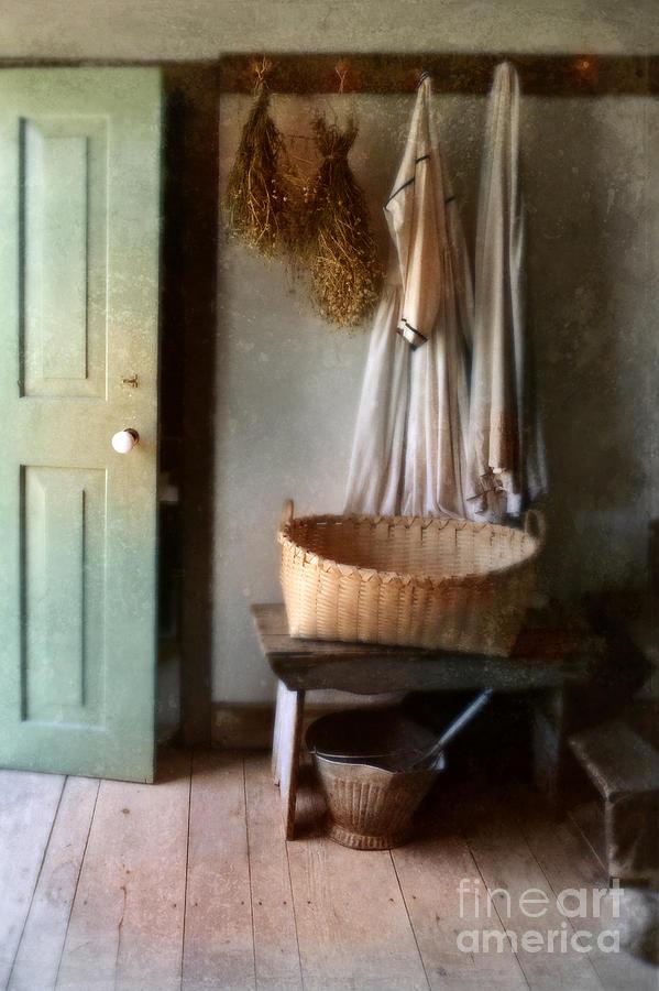 Kitchen Photograph - Kitchen Door In Old House by Jill Battaglia