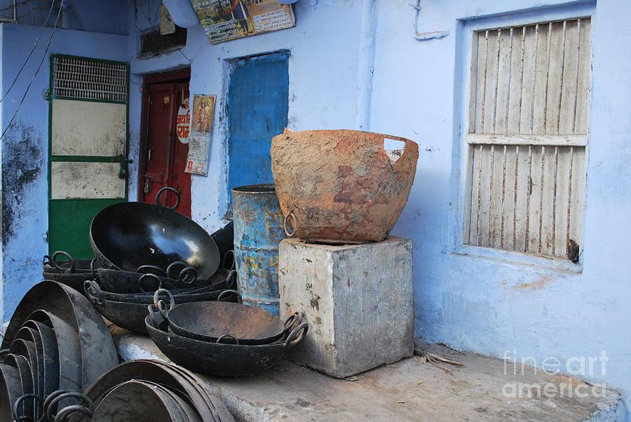 India Photograph - Kitchen by Jen Bodendorfer