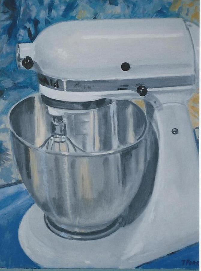 Mixer Painting - Kitchen Mixer by Terry Forrest