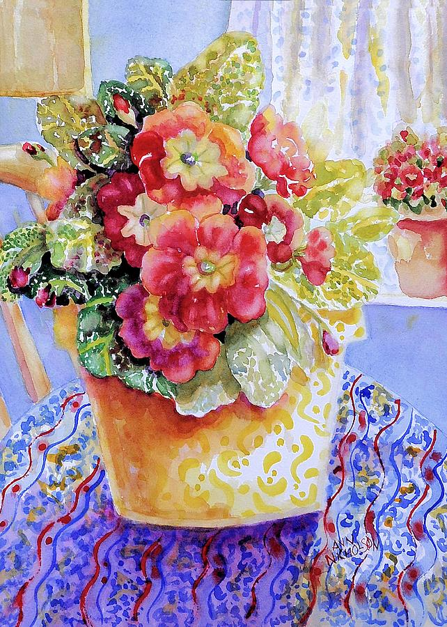 Primrose Painting - Kitchen Primrose II by Ann  Nicholson
