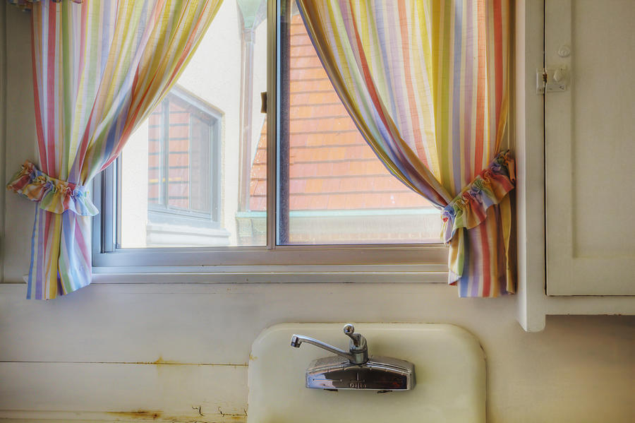 The Past Photograph - Kitchen Window Of Former Residential by Douglas Orton