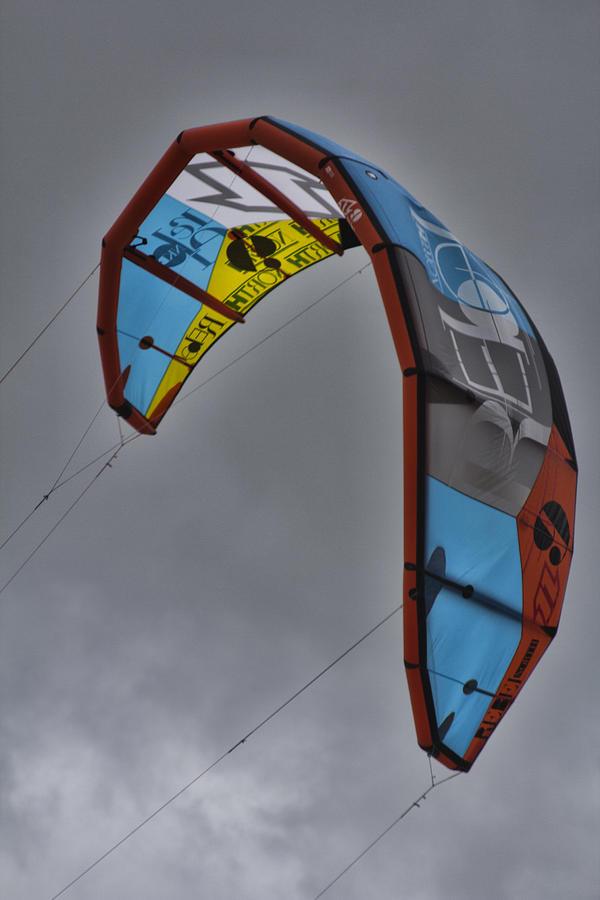 Kite Surfing Photograph - Kite Surfing by Douglas Barnard