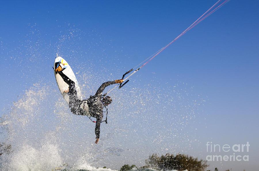 Kitesurfing Photograph - Kitesurfing by Hagai Nativ