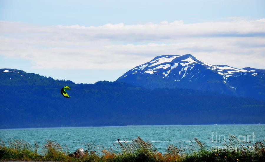 Kite Photograph - Kitesurfing In Alaska by Tanya  Searcy