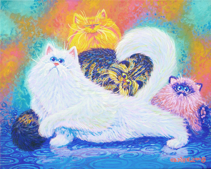 Cats Painting - Kitties For Jenny by Baron Dixon