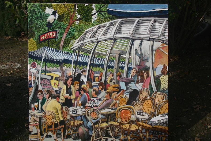 Kleber Cafe Paris Painting by Joe Jaqua
