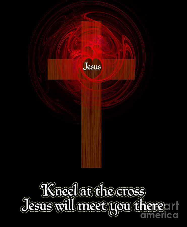 Kneel At The Cross Painting - Kneel At The Cross by Methune Hively