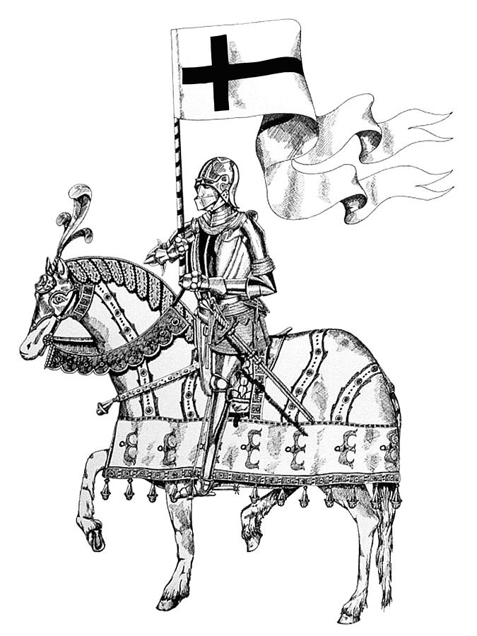Knight On Parade Drawing By Nathaniel Price