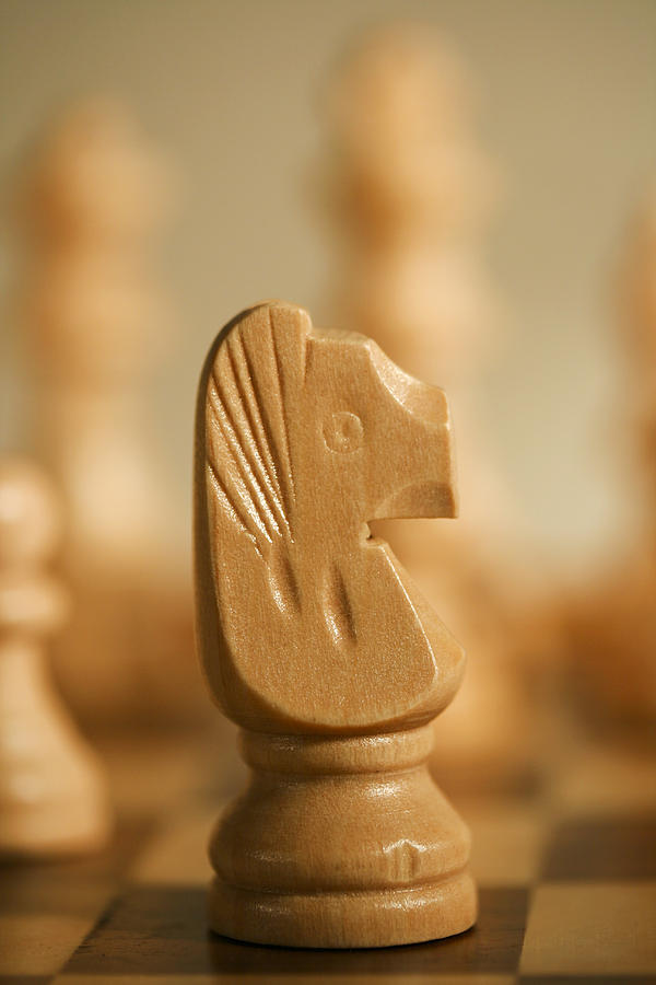 Chess Photograph - Knighted by Mark Michel