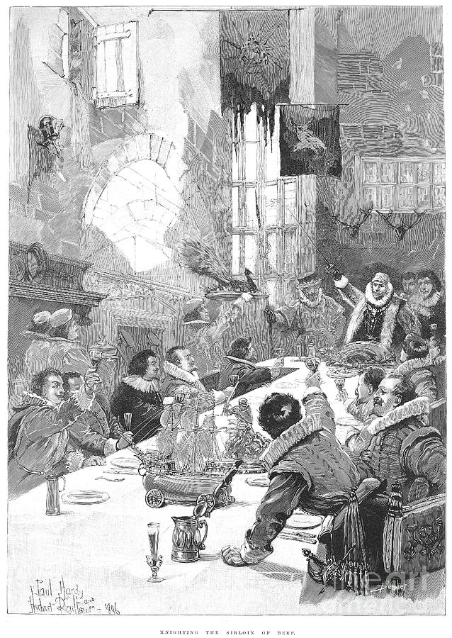 17th Century Photograph - Knighting The Sirloin by Granger