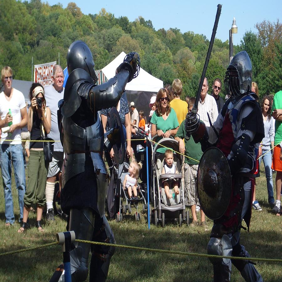 Knights Saber Toothing It Out Photograph - Knights Saber Fighting by Eileen Szydlowski