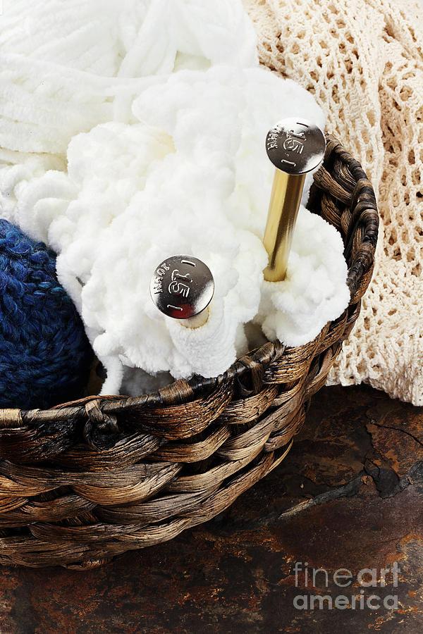 Knitting Photograph - Knitting Needles by Stephanie Frey