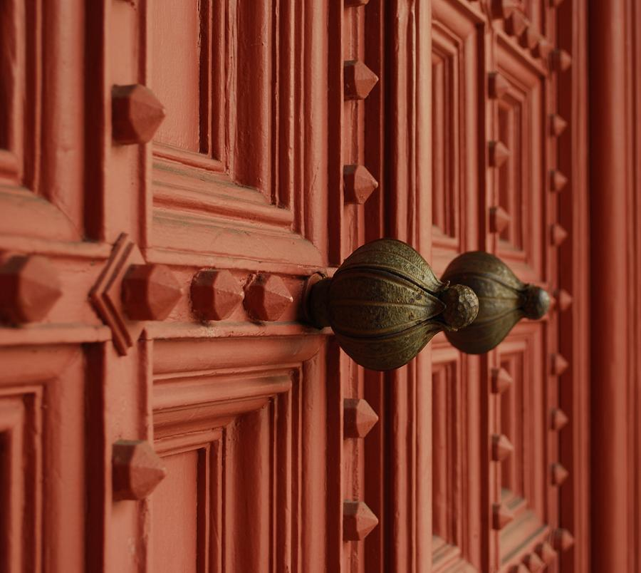 Door Photograph - Knobs by David Mcchesney