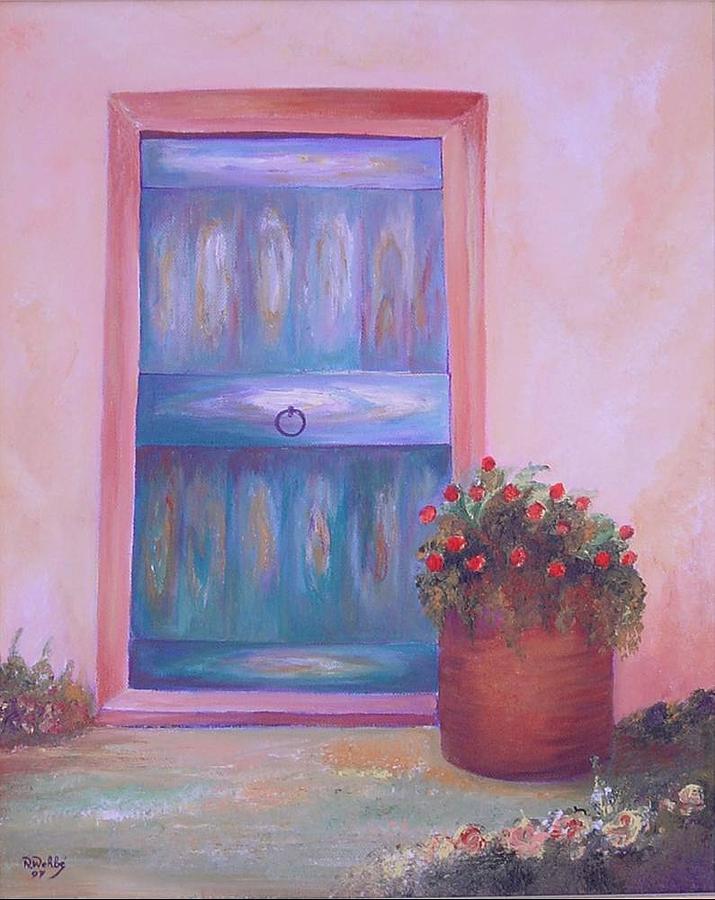 Door Painting - Knock Knock by Nabil Wehbe