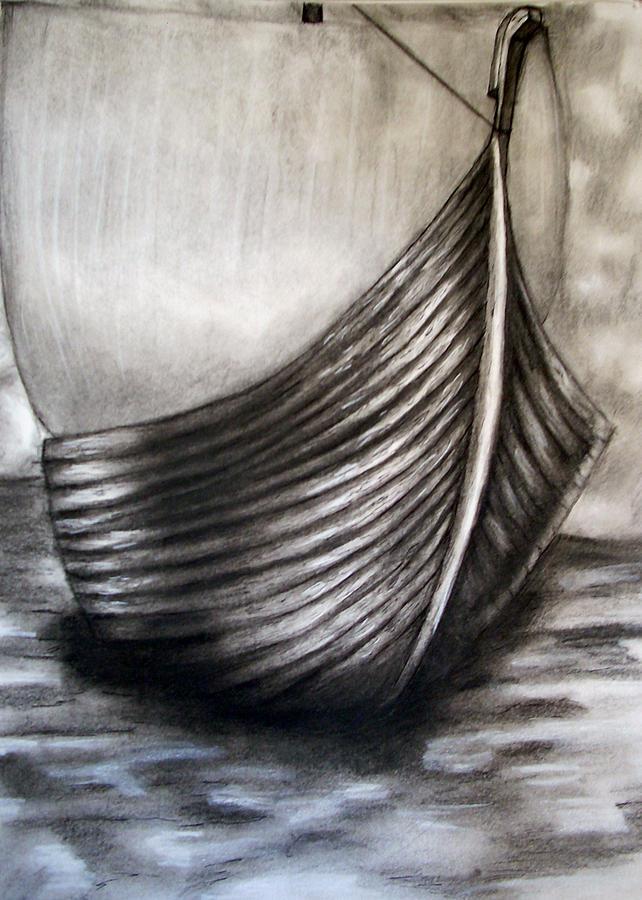 Knarr Drawing - Knorr by C Nick